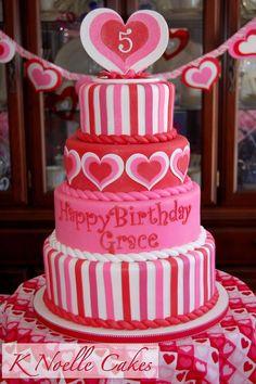 <3 Valentines Birthday Cake | Valentine Cakes
