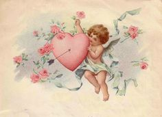 February 15 2019 at Valentine Images, Vintage Valentine Cards, Valentine Day Love, Vintage Cards, Vintage Postcards, Vintage Images, Wallpaper Iphone Cute, Cute Wallpapers, Angel Art