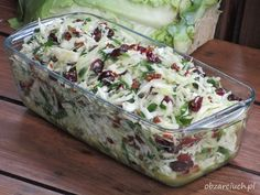 Surówka teściowej w 5 minut - Obżarciuch Best Salad Recipes, Raw Food Recipes, Diet Recipes, Vegetarian Recipes, Cooking Recipes, Vegetable Salad, Vegetable Recipes, Veggie Dishes, Food Dishes