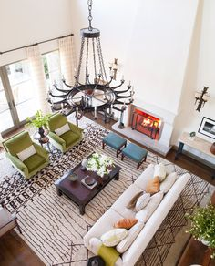 Living Room in Pacific Palisades, CA by Madeline Stuart