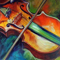 Violin Abstract 1818 Painting