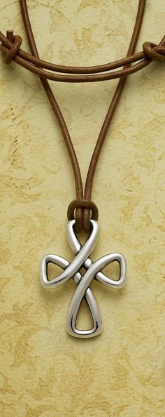 Woven Cross on Leather Necklace from James Avery Jewelry #jamesavery