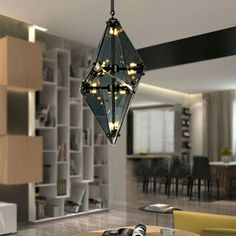 475.00$  Watch now - http://aiwcq.worlditems.win/all/product.php?id=32693076150 - Modern luxury glass diamond shape pendant lamp restaurant hotel clubs cafe pub shop  exhibition fair shining crystal drop lights