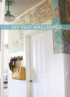 Updated Walls: Do-It-Yourself Map Wallpaper