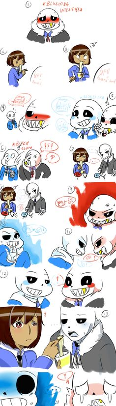 When you sink into AU's: you love Underfell!Sans! And them you meet Gaster!Sans. And, well, it was over before it even started.