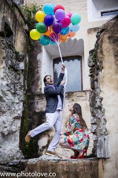 Sesión fotográfica con ideas de la película Up! pre-boda.