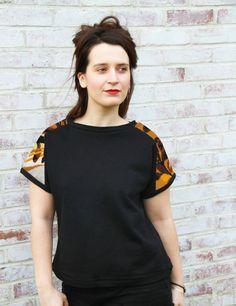 """Sweat-shirt """"le canevas de Scarlett"""" de Adaoz sur DaWanda.com"""