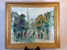 Vintage Abstract Oil Painting of St Peters Basilica in Italy Heavy Pallate Paint #Impressionism