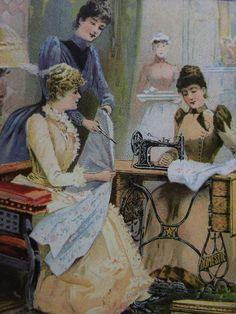 Group of Sewing Ladies