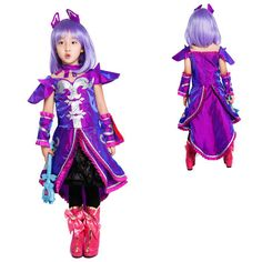 Balala the Fairies Lily Purple Dress Cosplay Costume and Accessories on sale, will end. Wonderful Cosplay Costume for kids girls children at Halloween Party, animation expo, art photo taking, etc.