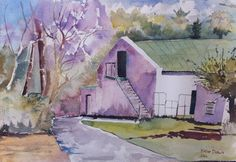 Farmhouse, Paarl, 2004. I think it was from my own photo, but can't remember.