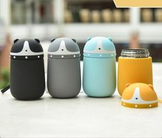 Cute Dog Thermos Cup Water Bottles Children Gift Stainless Steel Vacuum Flask | eBay