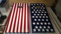 Custom American Flag corn-hole boards