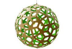 DAVID TRUBRIDGE // coral pendant light - green