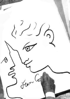 Dessin de Jean Cocteau Jean Cocteau, Multimedia Artist, Muse Art, Illustration Sketches, French Artists, Beauty And The Beast, Jeans, Art Drawings, Portrait