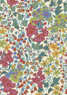 Edna #LibertyPrint is a hand-drawn, coloured design featuring lily of the valley, stitchwort, wallflower, candytuft and ivy. Respectively, these flowers symbolise sweetness and humility, love, everlasting beauty, indifference, immortality and fidelity: http://www.liberty.co.uk/fcp/product/Liberty/Edna-B-Tana-Lawn-Cotton-/106465
