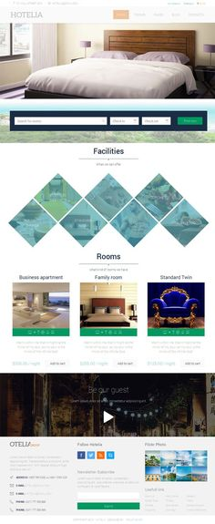 Hotelia - Hotel WordPress Theme #design #hotel #web