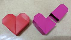 159 Origami 종이접기(하트 상자) heart 색종이접기  摺紙 折纸 оригами 折り紙  اوريغامي