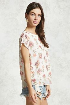 Floral Cap Sleeve Top