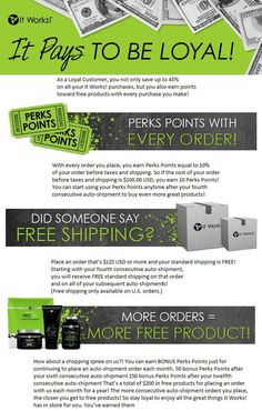 Look at the benefits of becoming an It Works loyal customer. Let me help you get on track with your health and weight loss goals. www.skinnywrapwithstacey.com  2 in 1 natural fat burner!   http://tinyurl.com/lx9ybd9