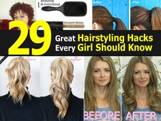 Creative Ideas29 Hairstyling Hacks Every Girl Should Know - Creative Ideas