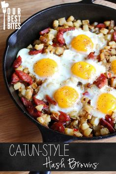 My family LOVES baked egg dishes for dinner.  Can't wait to try Kate's Cajun Style Hash Brown Skillet this weekend!