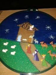 Resultado de imagen para pesebres de botones Christmas Projects, Christmas Diy, Merry Christmas, Navidad Diy, Hula, Nativity, Kids Rugs, Holiday Decor, Crochet