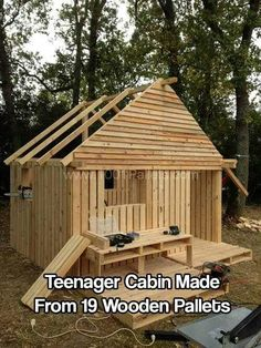 Pallet Cabin Clubhouse Build Your Own 19 Pallets Teenager Hideaway Fun Crafts For KidsPallet Sheds Cabins Huts