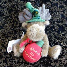 Boyds-Bear-Moose-Christmas-Holiday-Plush-Stuffed-Toy-Collectable-Animal-Tag-Gift