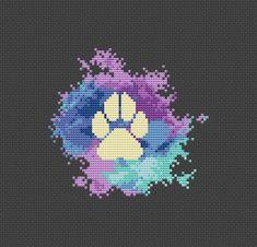 Modern Cross Stitch Patterns, Counted Cross Stitch Patterns, Cross Stitch Charts, Gifts For Dog Owners, Gifts For Pet Lovers, Graph Paper Art, Pixel Art Templates, Simple Cross Stitch, Perler Bead Art