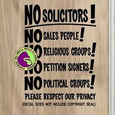 How I Made A Custom No Soliciting Sign With An Inexpensive Metal