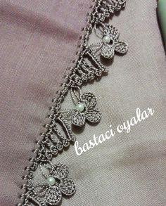Crochet Border Patterns, Crochet Lace Edging, Thread Crochet, Crochet Designs, Crochet Doilies, Art Au Crochet, Easy Crochet, Knit Crochet, Flower Embroidery Designs