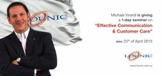 """A week filled with seminars and speeches will draw to a close today when I visit my friends at Lounic Ltd for a 1-day seminar on """"Effective Communication & Customer Care!"""" #MVirardi"""