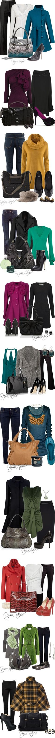 """""""Fall Jewel Tones"""" by orysa on Polyvore"""