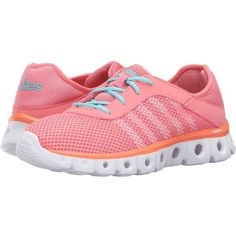 K-Swiss X Lite Athleisure CMF (Salmon Rose/Fusion Coral/Aqua Sky Mesh)... (55 CAD) ❤ liked on Polyvore featuring shoes, athletic shoes, pink, running shoes, aqua running shoes, mesh running shoes, pink running shoes and coral shoes