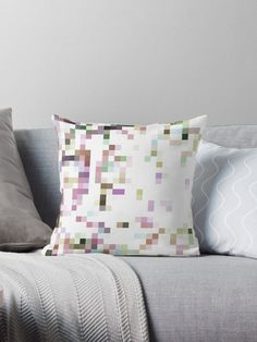 Enjoy 15% OFF With Any 2 Pillows! Features Vibrant double-sided print throw pillows to update any room Independent designs, custom printed when you order Soft and durable 100% Spun Polyester cover with an optional Polyester fill/insert Concealed zip opening for a clean look and easy care. Throw pillow Pixels in pastel hues by ARTbyJWP from Redbubble #pillows #throwpillow #cushion #shop #sales #redbubble #homedecor #pixels