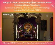 Vivek Pange Home Ganpati 2014 Decoration Pictures, Decorating With Pictures, Ganpati Picture, Ganpati Festival, Festival Decorations, Picture Video, Tv, Home, Television Set