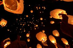 Members of a global youth organization, AISEC, celebrate the Diwali festival with glowing sky lanterns to promote eco friendly Diwali in Calcutta, India, on Nov. 9. [Diwali 2012: Festival of Lights - The Big Picture]