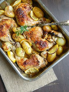 Dr Ola's kitchen...oven roasted lemon and herb chicken