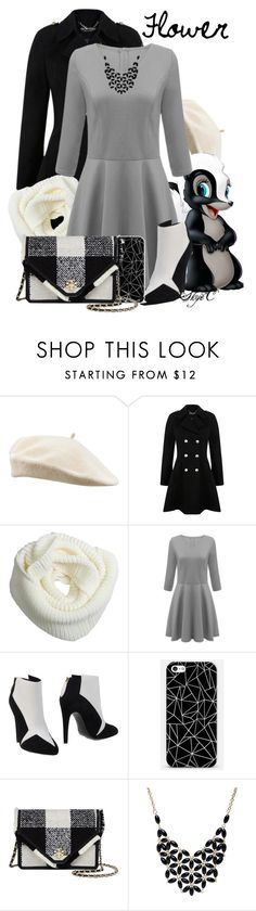 """""""Flower - Winter - Disney's Bambi"""" by rubytyra ❤ liked on Polyvore featuring Miss Selfridge, Aperlaï, Tory Burch, Alexa Starr, Winter, flower, disney, disneybound and bambi"""