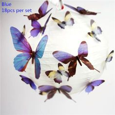 Set of 18 3D Butterfly Wall Stickers