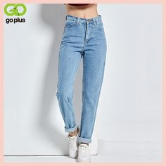 Free shipping 2017 New Slim Pencil Pants Vintage High Waist Jeans new  womens pants full length c23265253bd3