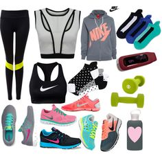 """My Fav workout gear"" by cici-the-pink-minxx on Polyvore"