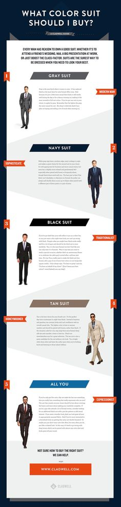 What Color Suit Should You Buy? #men #business #fashion