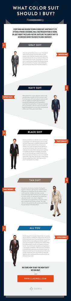 What Color Suit Should You Buy? #men #business #fashion