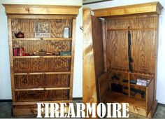 American Winchester Bookcase with Hidden Gun Safe | Winchester ...