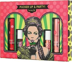 Benefit Cosmetics Pucker Up & Party! set, which includes Benebalm, Benetint, Posiebalm, and Posietint. New at Ulta as of September Makeup Gift Sets, Makeup Kit, Party Makeup, Benefit Cosmetics, Benefit Makeup, Mascara, My Beauty, Beauty Case, Beauty Tips