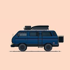 @westfalyeah has been doing some dope artwork illustrating the #VanLife community's beloved vans. This is his rendition of Pia's earlier look (pre-lift). Amazing work brother! #VanagonLife by piathevanagon