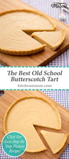 The Best Old School Butterscotch Tart Caramel Tart Gypsy Tart Gypsy Tart, Tart Recipes, Sweet Recipes, Dessert Recipes, Cooking Recipes, Mini Desserts, Plated Desserts, Butterscotch Tart, Caramel Tart