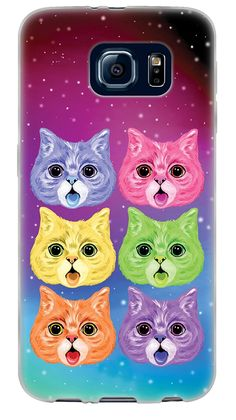 Amazon.com: {Galaxy Colorful Kittens} Soft and Smooth Silicone Cute 3D Fitted Bumper Back Cover Gel Case for Samsung Galaxy S6 {Color is Pink, Blue and Yellow}: Cell Phones & Accessories